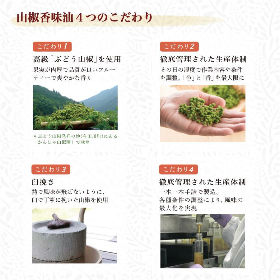 山椒の風味を生かすこめ油
